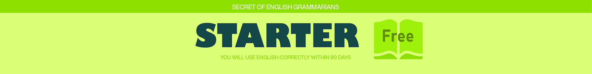 ENGLISH GRAMMAR FOR STARTER banner