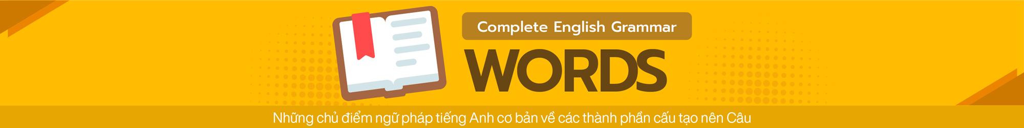 COMPLETE ENGLISH GRAMMAR (WORDS) banner