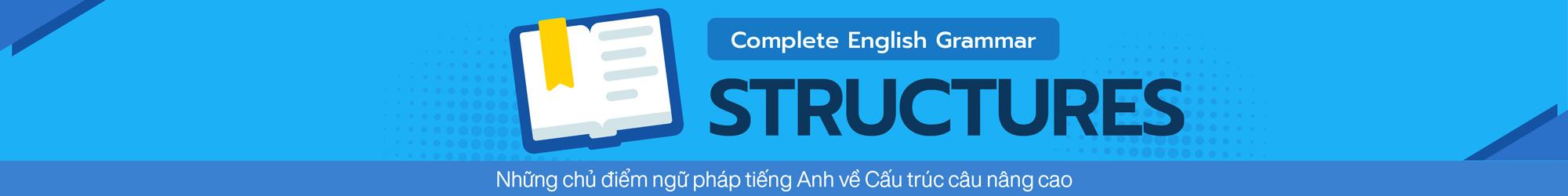 COMPLETE ENGLISH GRAMMAR (STRUCTURES) banner