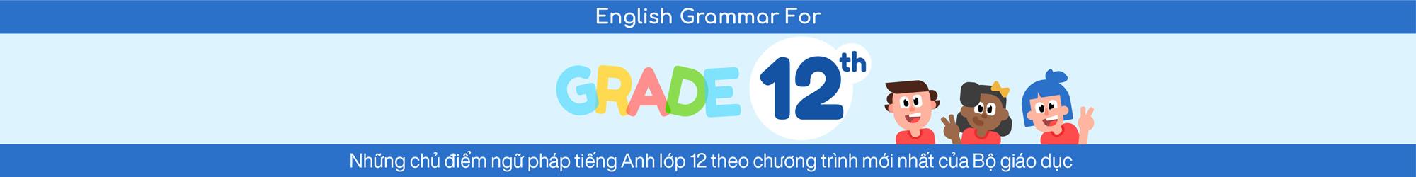 ENGLISH GRAMMAR FOR 12TH GRADE banner