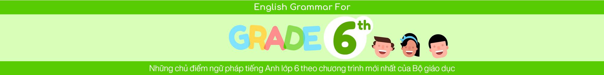 ENGLISH GRAMMAR FOR 6TH GRADE banner