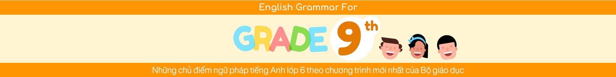 ENGLISH GRAMMAR FOR 9TH GRADE banner