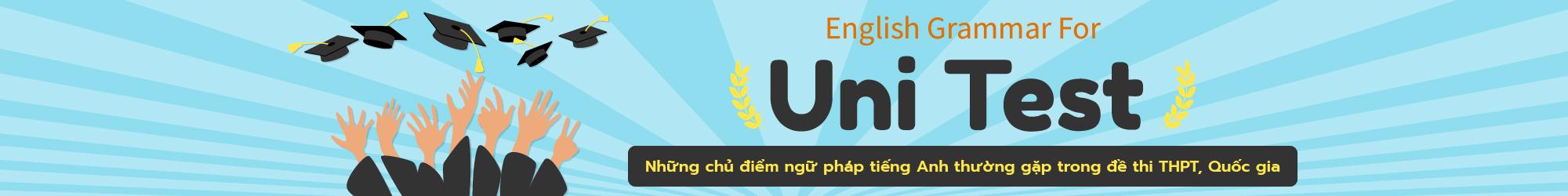 ENGLISH GRAMMAR FOR UNI TEST banner