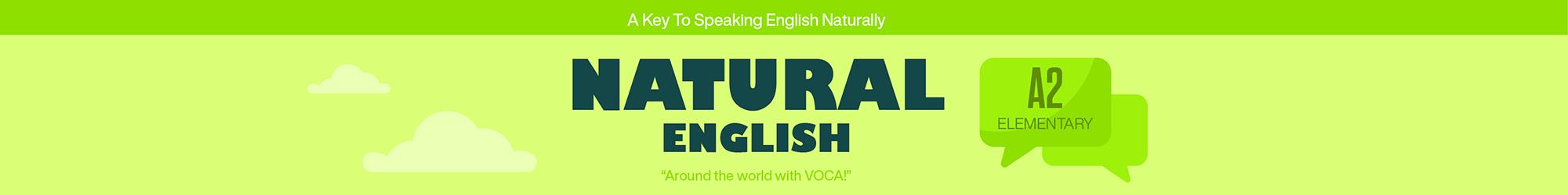 NATURAL ENGLISH A2 banner
