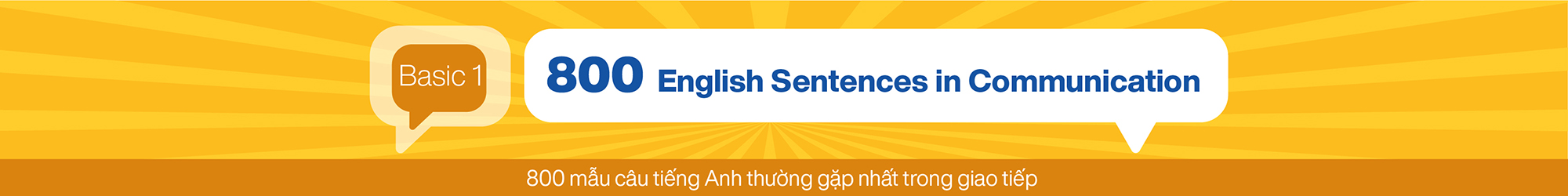 800 English Sentences in Communication (Basic 1) banner