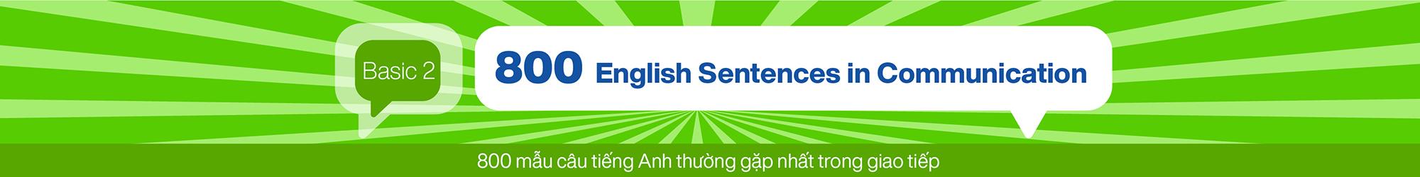 800 English Sentences in Communication (Basic 2) banner