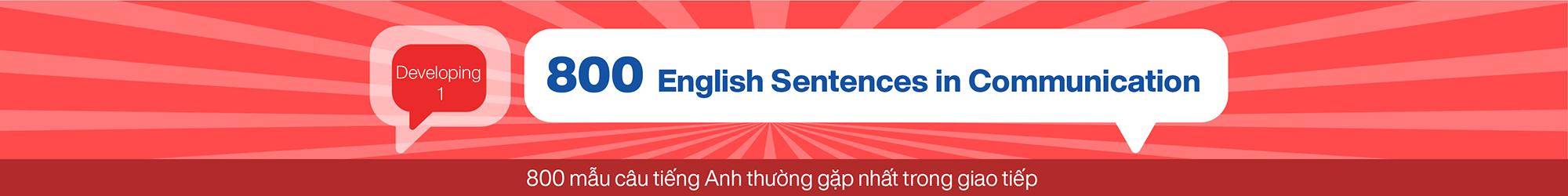 800 English Sentences in Communication (Developing 1) banner
