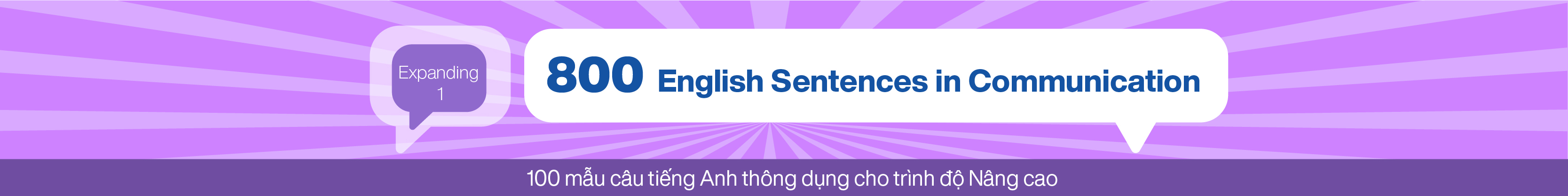 800 English Sentences in Communication (Expanding 1) banner