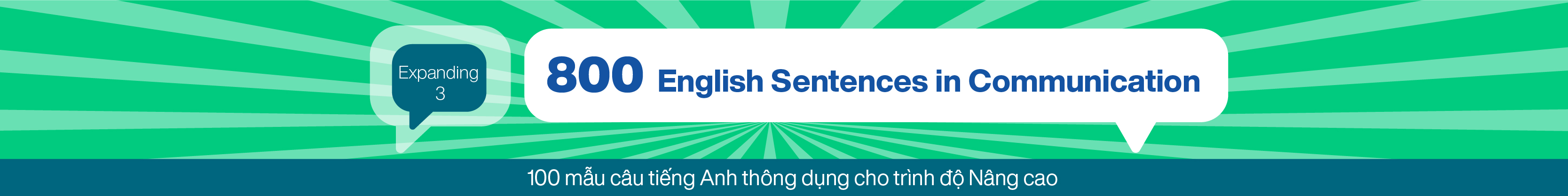 800 English Sentences in Communication (Expanding 3) banner