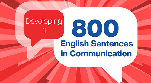 800 English Sentences in Communication (Developing 1)