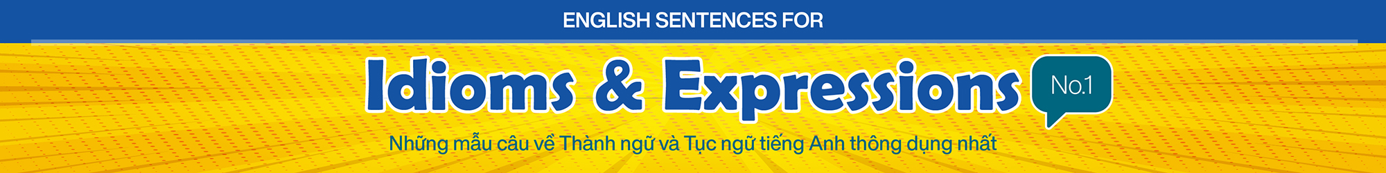 English Sentences for Idioms and Expressions (No.1) banner