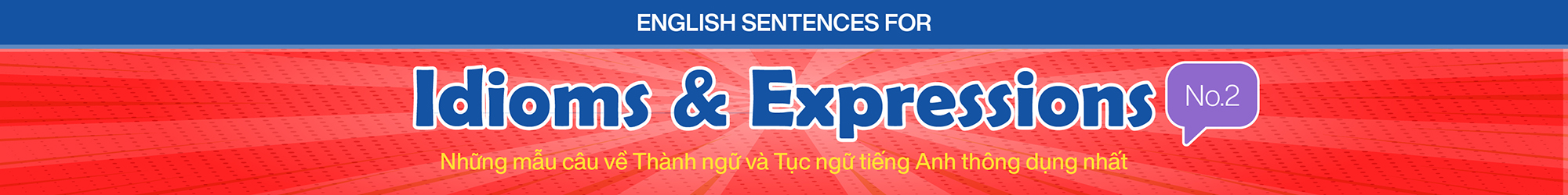 English Sentences for Idioms and Expressions (No.2) banner