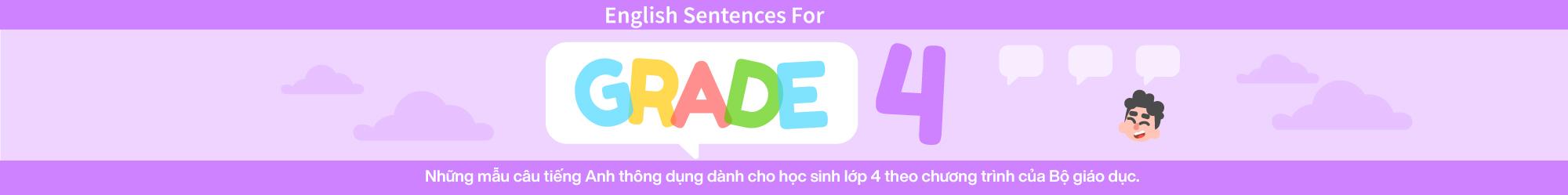 Sentences For English Grade 4 banner