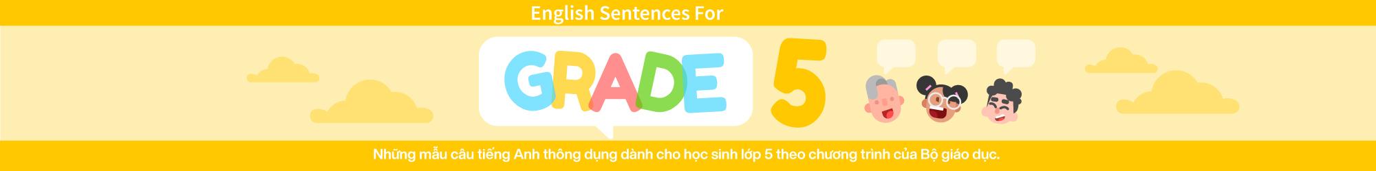 Sentences For English Grade 5 banner