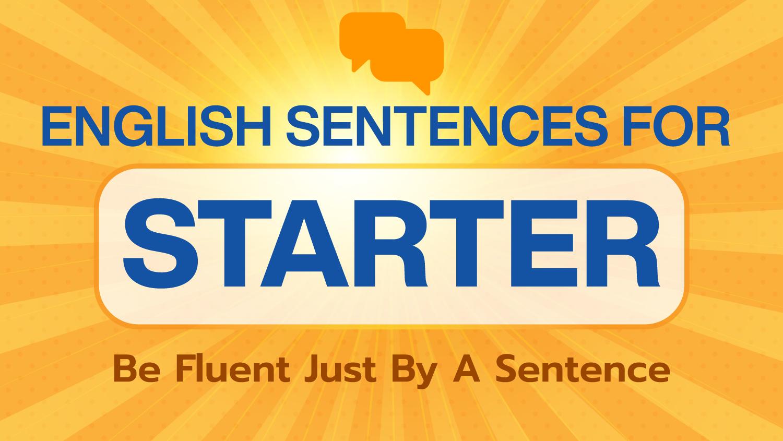English Sentences For Starter