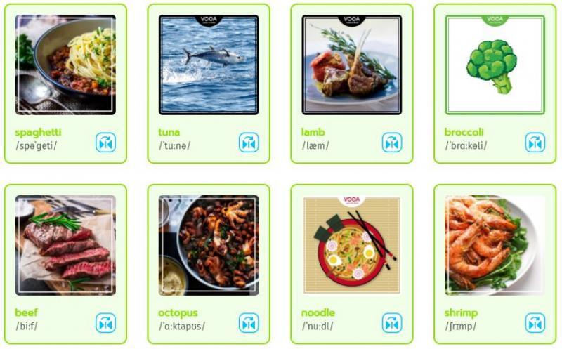 3000 từ vựng tiếng Anh thông dụng theo chủ đề đồ ăn