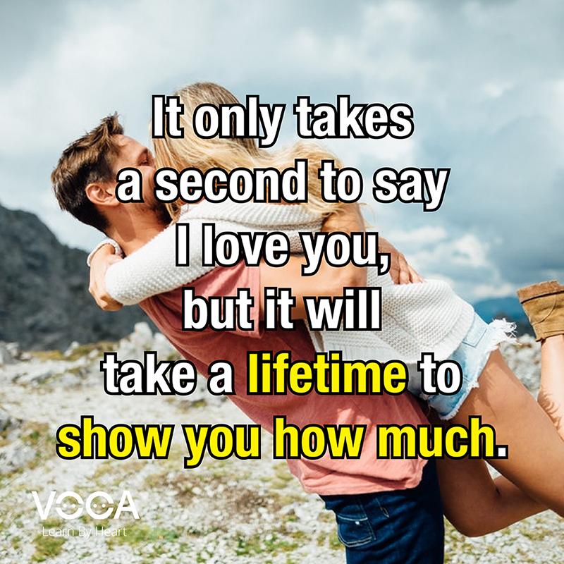 Nhưng câu nói hay bằng tiếng Anh về tình yêu