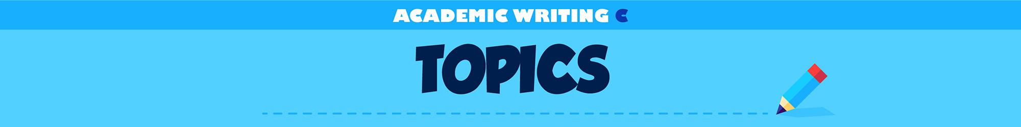 Academic Writing C (Topics) banner